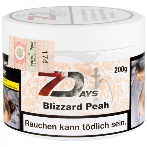 7 Days Tabak - Blizzard Peah 200 g
