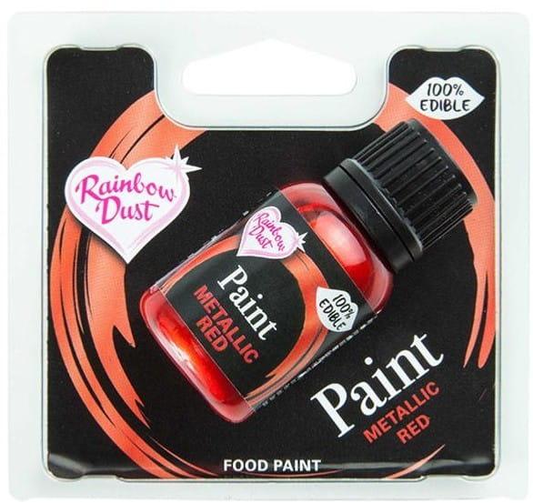 Lebensmittelfarbe Rainbow Dust - Metallic Red