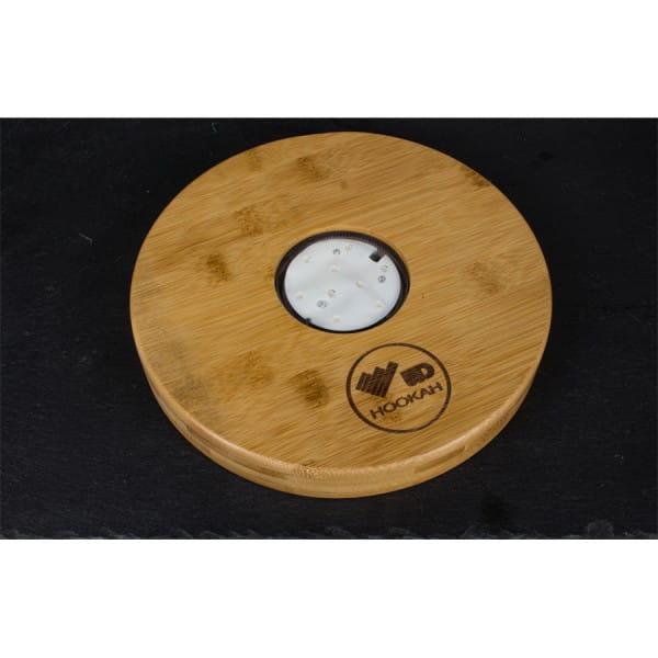 WD Hookah - LED Untersetzer, Bambusholz 22 cm