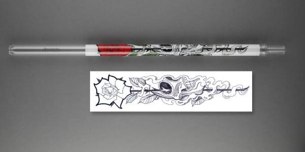 Devil Smoke Mundstück Tattoo Line - Skull Smoke Colored