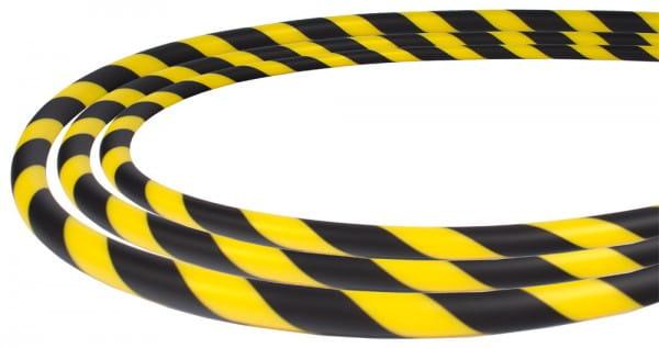 Silikonschlauch Soft-Touch - Schwarz Gelb stripes