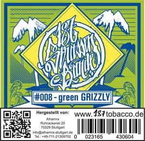 187 Strassenbande Tabak Green Grizzly 200 g
