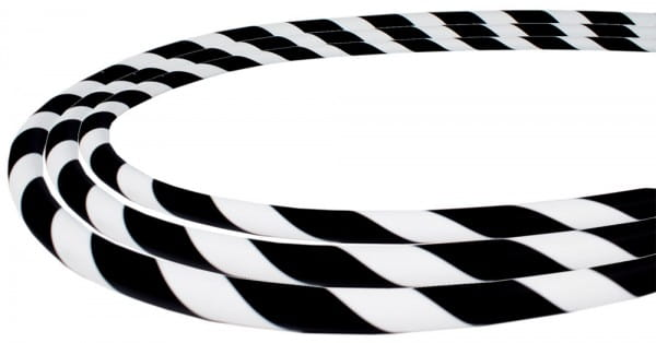 Silikonschlauch Soft-Touch - Schwarz Weiß Stripes