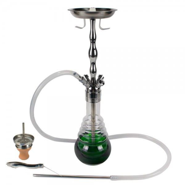 ShishaMe Classic Silber Grün - 630er Komplettset
